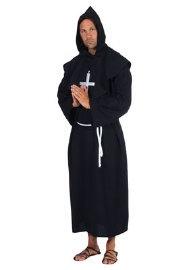 Zwarte monnik kostuum deluxe