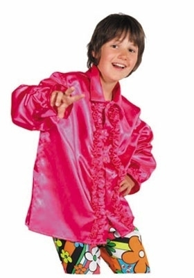 Kinder roezel blouse hotpink