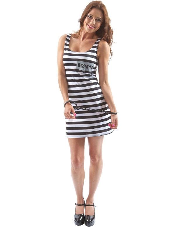 Zwart/wit boeven jurkje