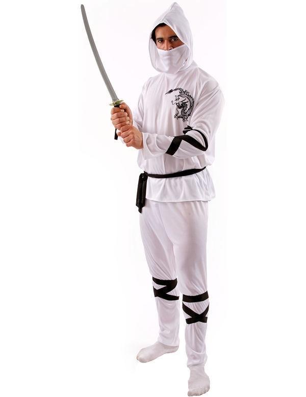 Ninja kostuum wit