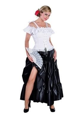 Zwarte volangen rok lang