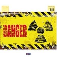 Decoratie deurbord Danger