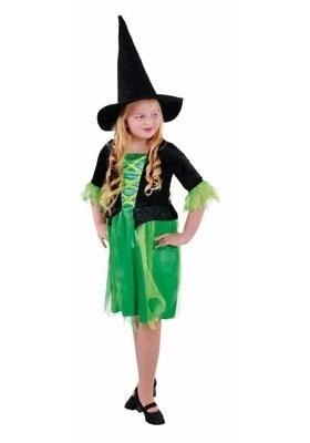 Heksen jurkje groene Petula
