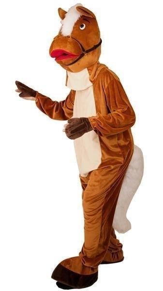 Mascotte kostuum paard