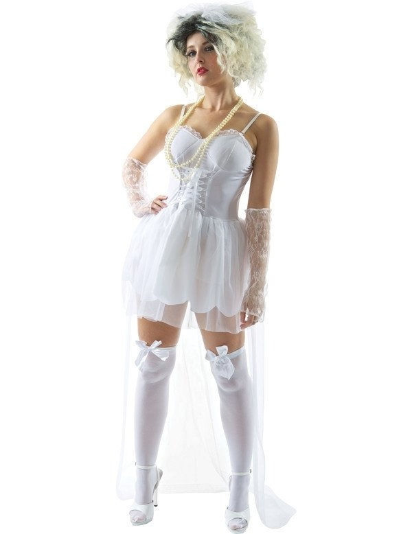 Madonna sexy bruid jurkje