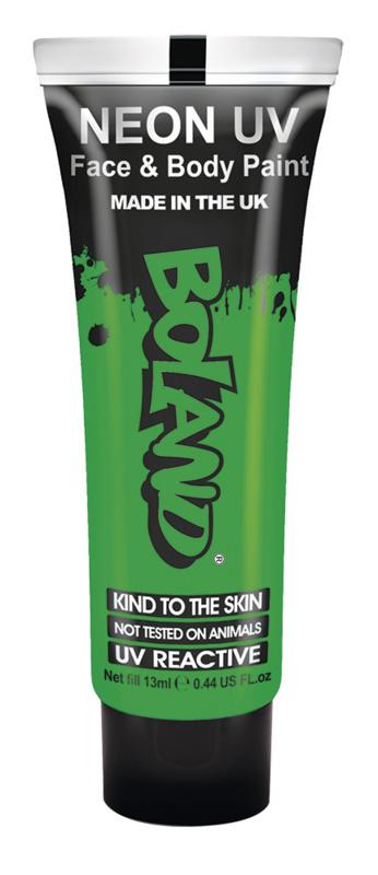 Gezicht en body verf Neon GID groen
