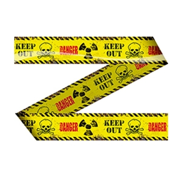Afzetlint Keep out Danger