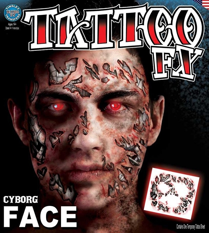 Face Tattoo cyborg