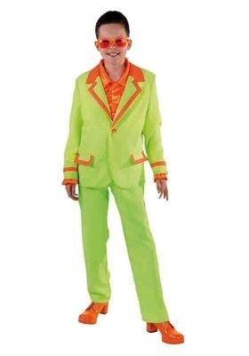 Disco kostuum kinder fluor groen