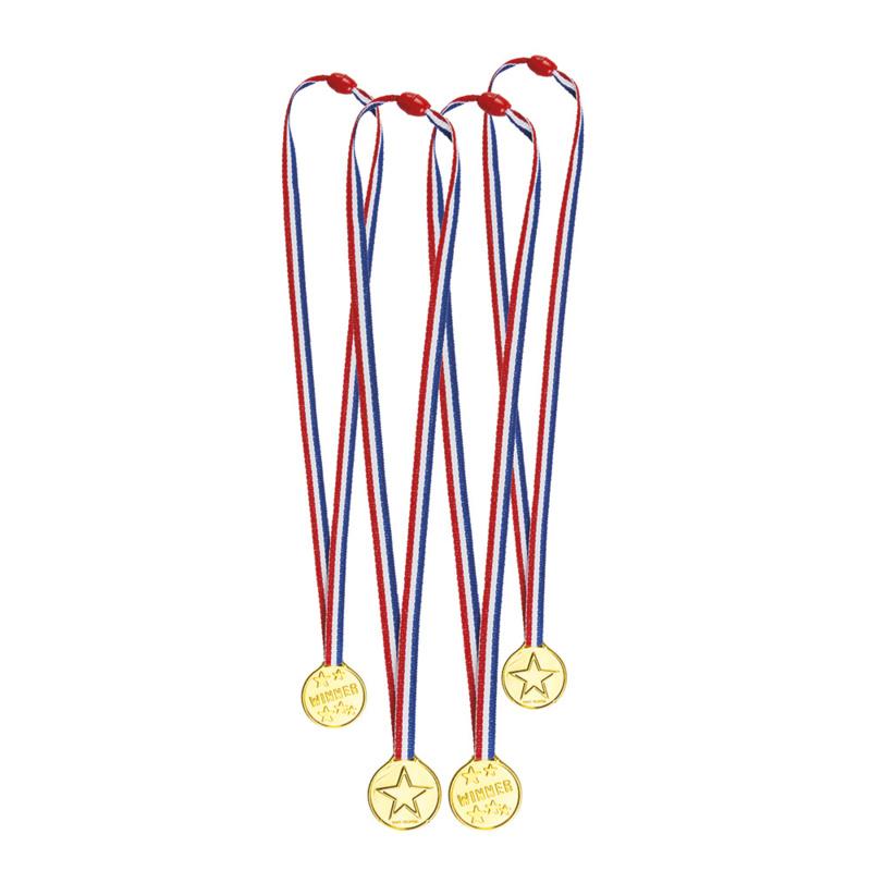 Medailles 4 stuks