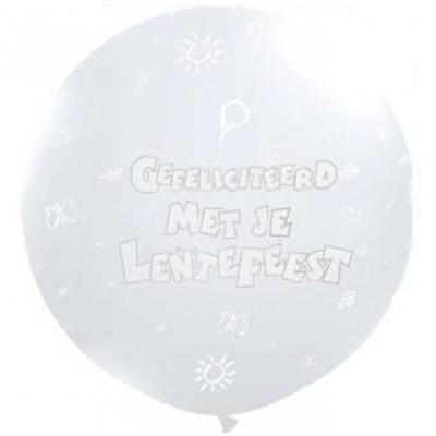 90 cm witte Lentefeest ballon