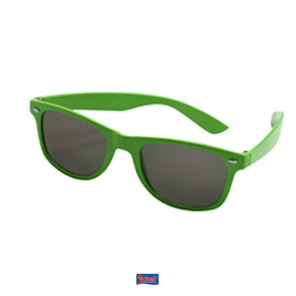 Neon groen Blues brother bril