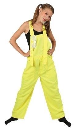 Fluor geel tuinbroek kids