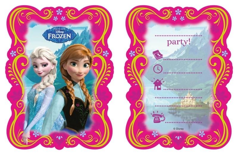 Frozen uitnodigingen