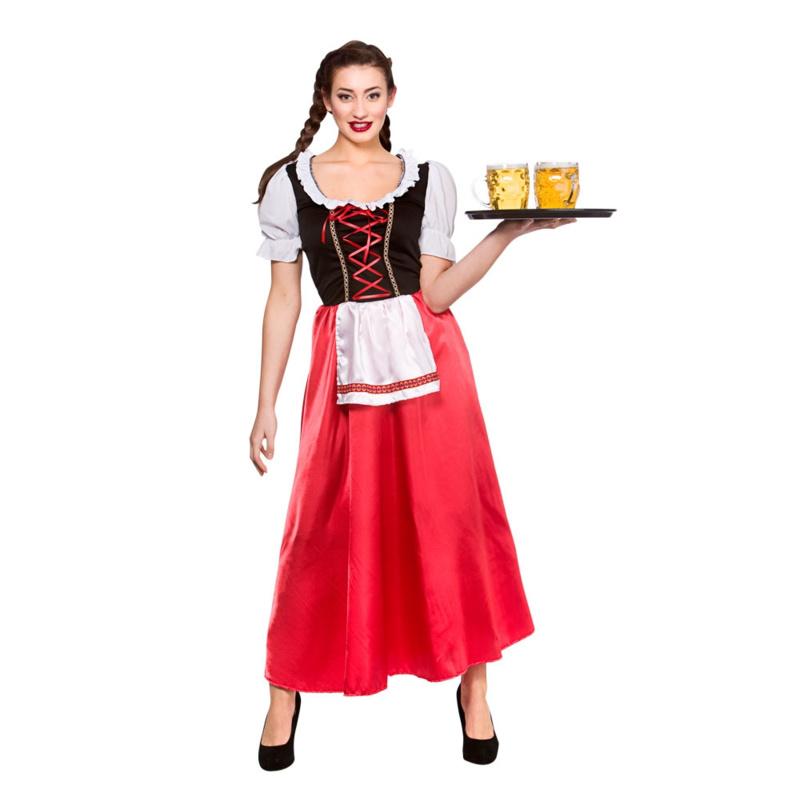 Tiroler lange jurk Rosa