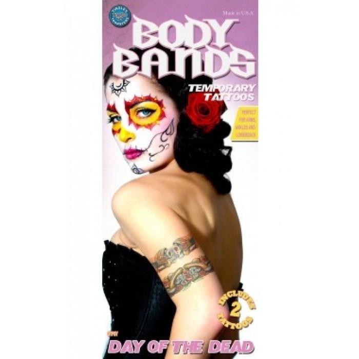 Tattoo body band gypsy skull 2 stuks
