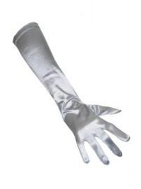 Handschoenen lang zilver