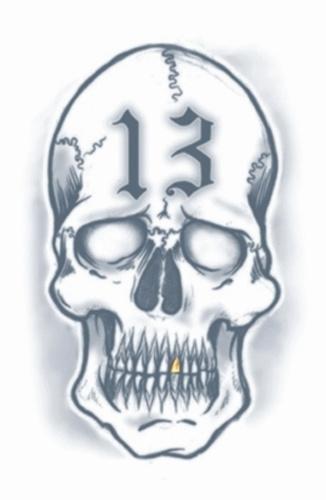 Prison Tattoos 13 skull