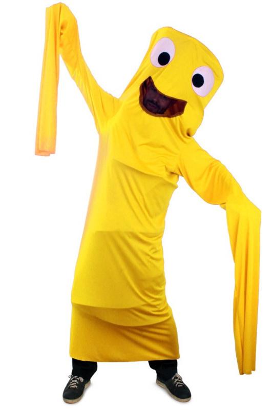 Funny windsock kostuum geel