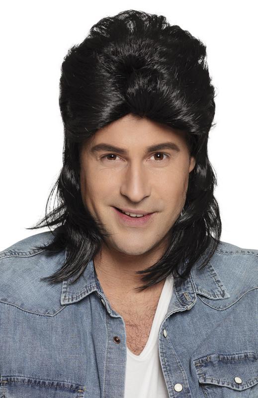 Pruik matje zwart Jimmy