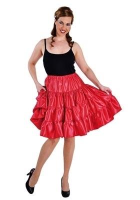 Rode volangen rok