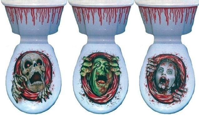 Halloween toilet decoratie