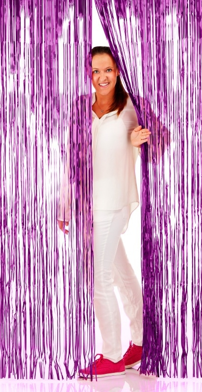 Folie deurgordijn paars