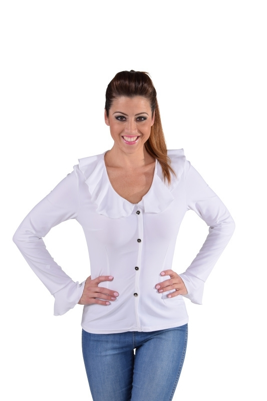 Jersey blouse wit