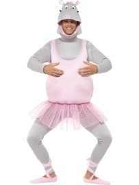 Ballerina nijlpaard kostuum