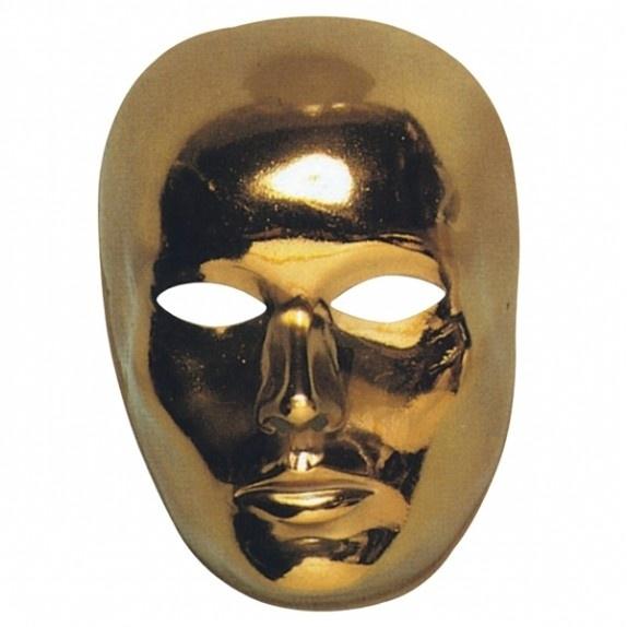Masker goud gezicht