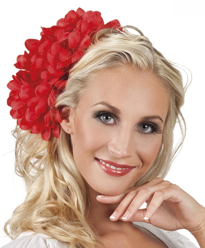 Haarbloem Dahlia rood