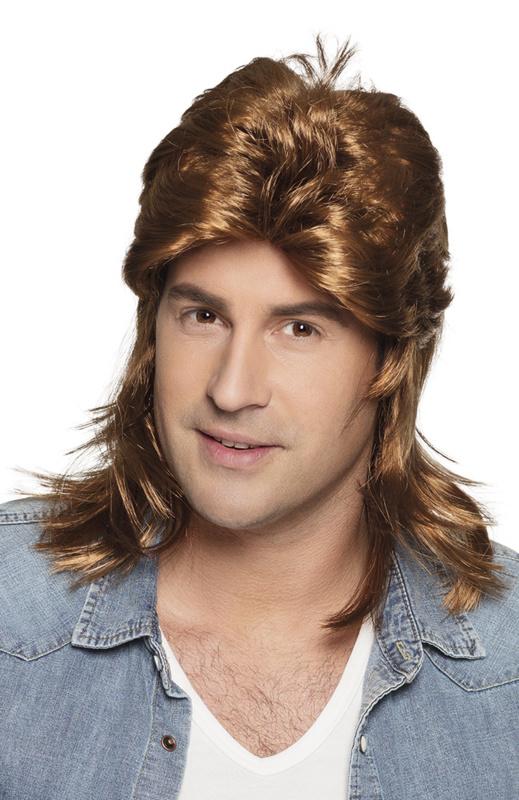 Pruik matje bruin Jimmy