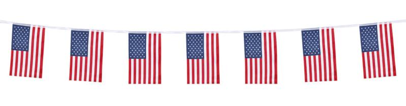 USA vlaggenlijn stof