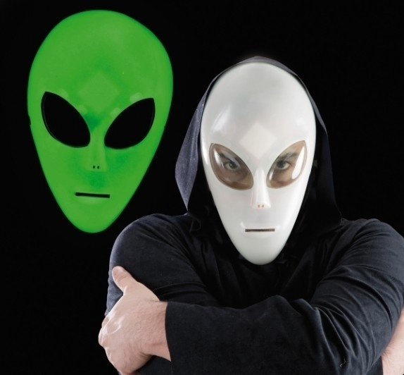 Masker buitenaards Glow in the Dark