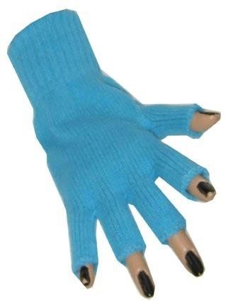 Handschoen lichtblauw Vingerloze