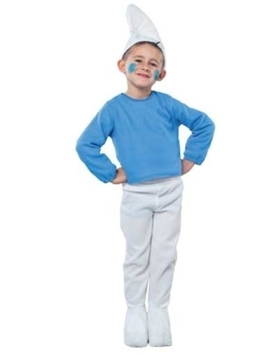 Blauwe kabouter kostuum