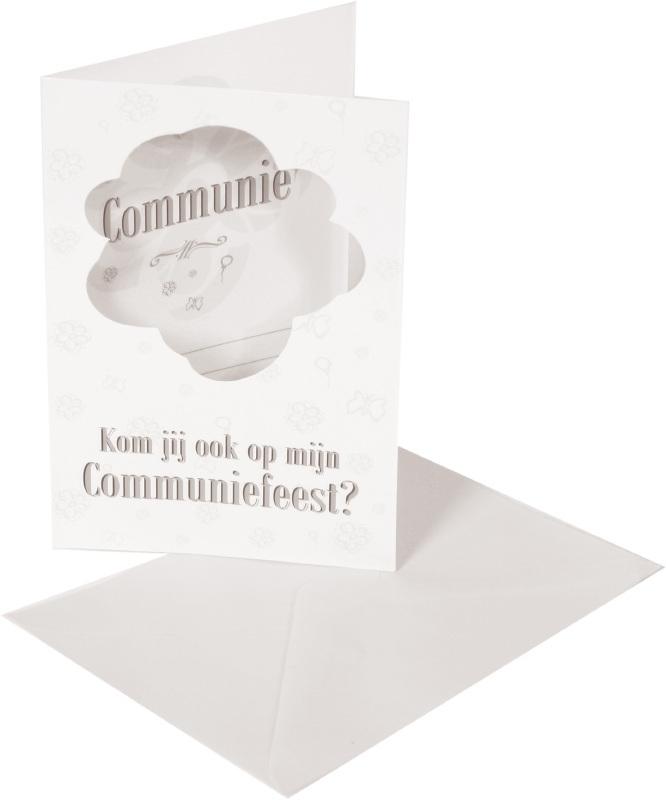 8 uitnodigingen voor Communiefeest