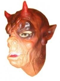 Masker latex aap met horens