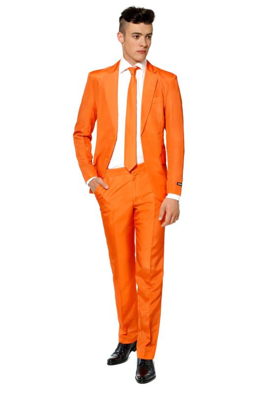 Solid orange suitmeister kostuum