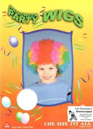 Pruik Clown kinderen