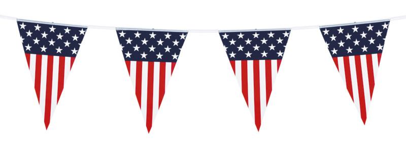 USA vlaggenlijn