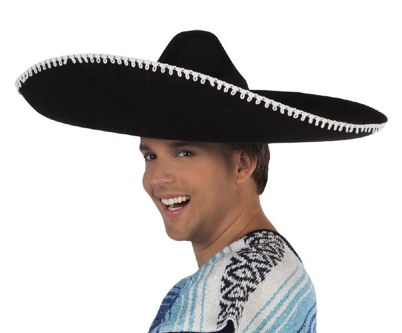Sombrero deluxe zwart