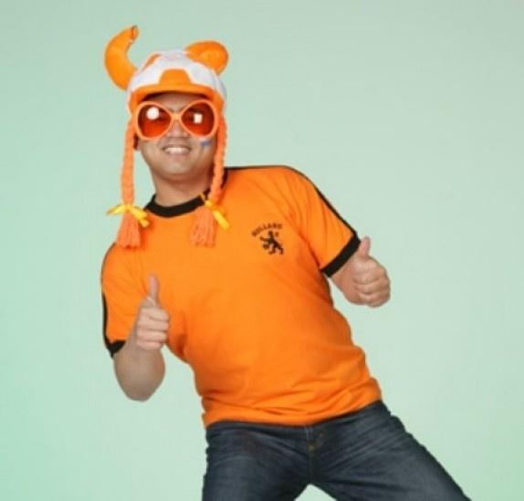 Shirt oranje retro