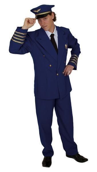 Piloten kostuum compleet