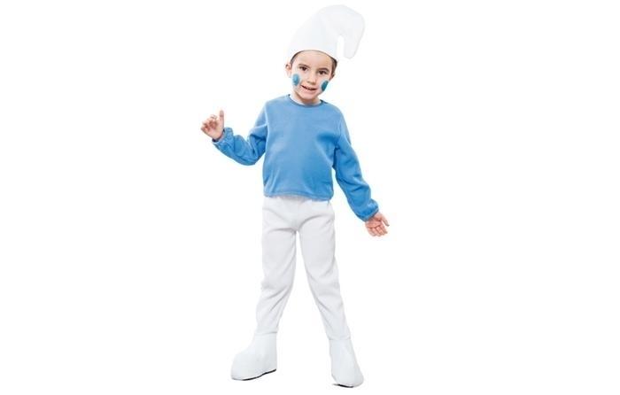 blauw kabouter kostuum little