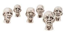Decoratie zombie hoofden halloween
