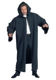 Zwarte mantel deluxe