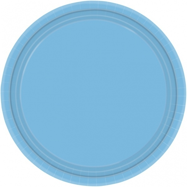 Bordjes licht blauw