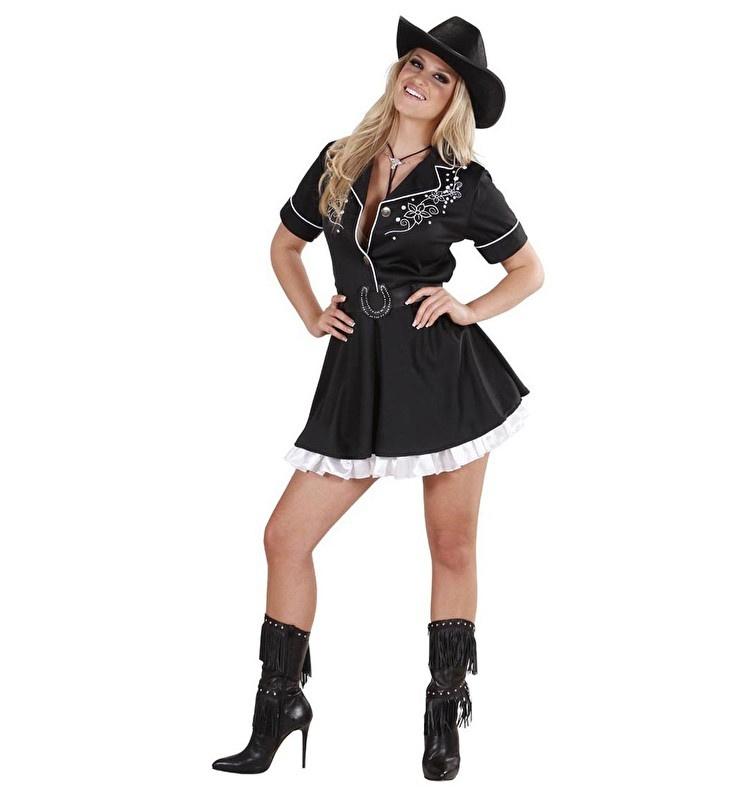 Zwart rodeo jurkje
