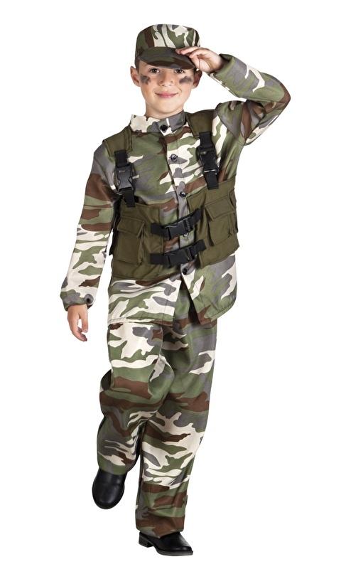 Soldaten kostuum jongens